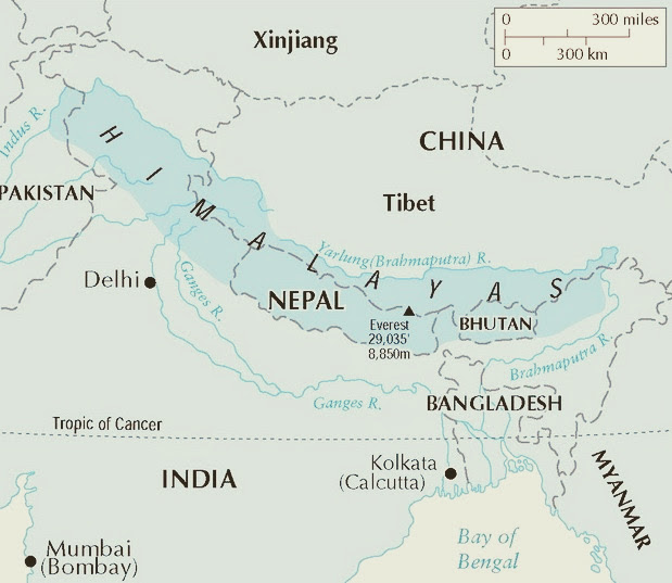 Himalaya India Map.Himalayan Holidays Wildlife Tour Packages To India And Nepal