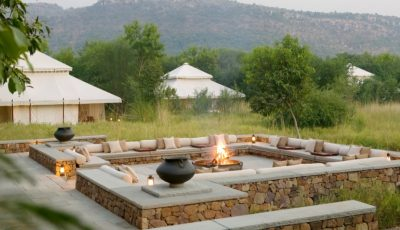 Aman-i-Khas - Outdoor Fireplace