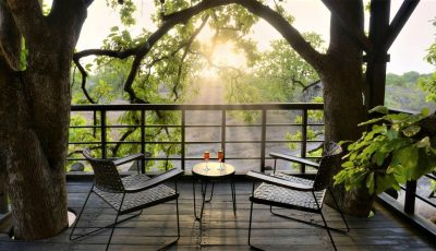 Pench Tree Lodge Balcony View