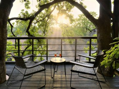 Pench Tree Lodge Balcony View